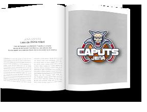 Zeitschrift mit abgebildetem Jena Caputs Logo
