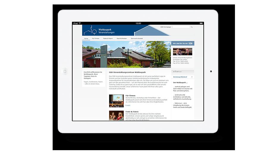 Redaktionelles Texten & Arbeit für Website Waldaupark