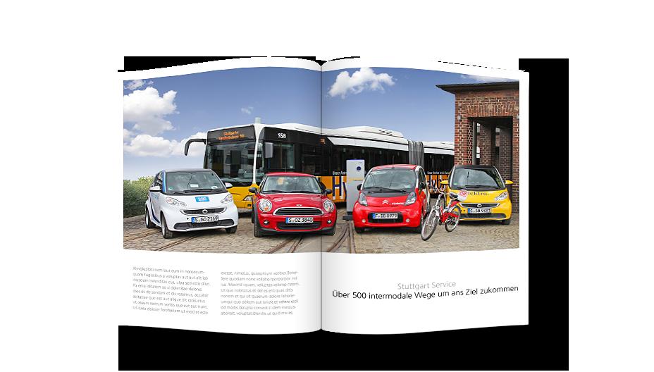 Elektromobile und urbane Angebote – Stuttgart Services