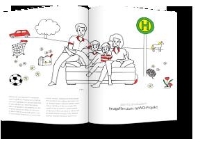 naWo Imagefilm Zeichnung Familie auf Sofa