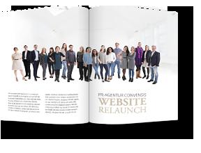 PR-Agentur Convensis mit neuer Website online